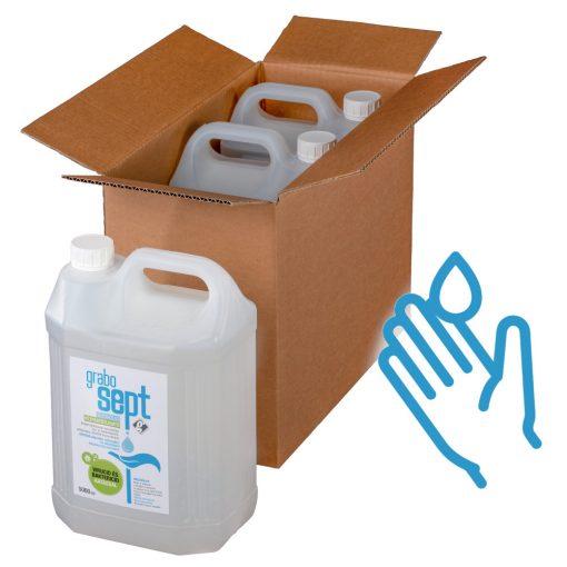 GraboSept kézfertőtlenítő utántöltő gyűjtő csomag - 3x5 liter
